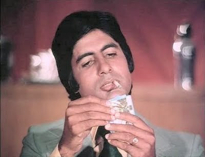Amitabh Bachchan in his younger years in  the movie Don (1978)
