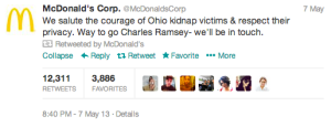 McDonalds Tweet to Charles Ramsey