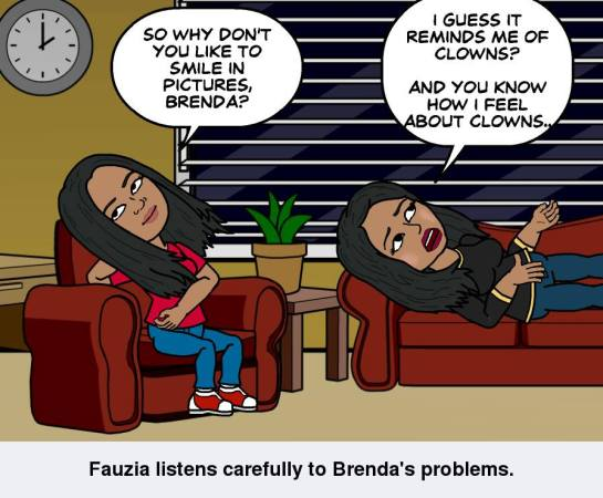 My Bitstrip cartoon, starring me and Brenda