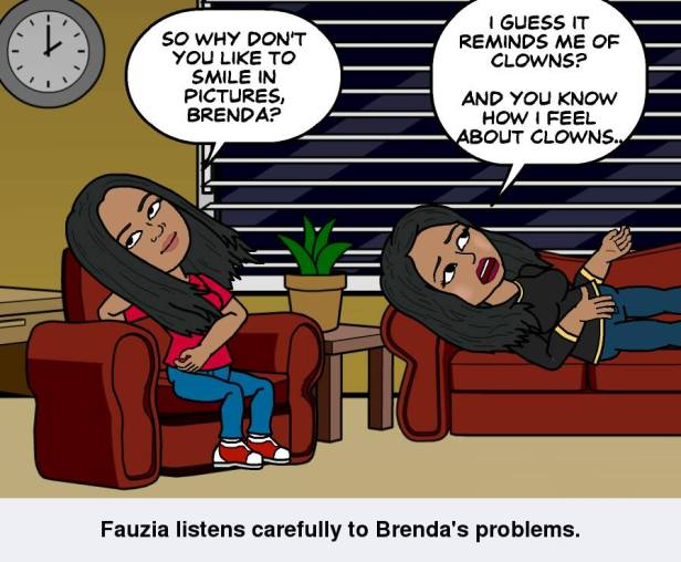 My Bitstrip cartoon, starring me and Brenda