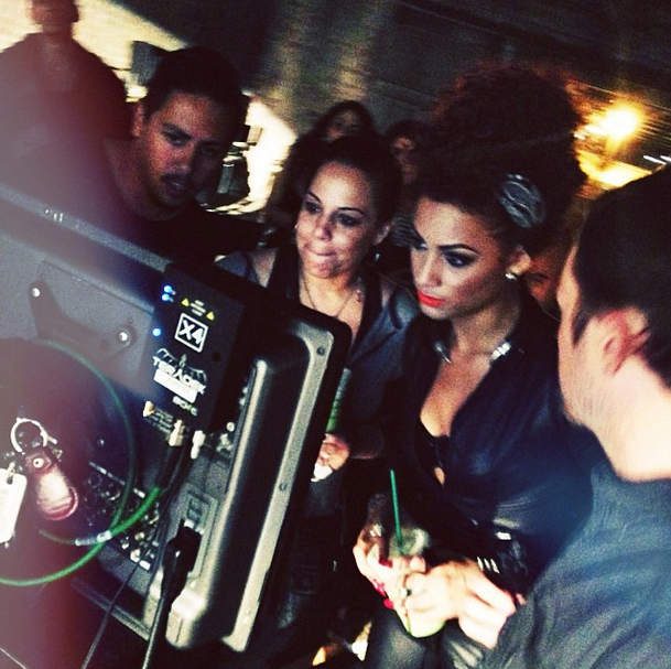 Danielle Curiel directing the Prince video