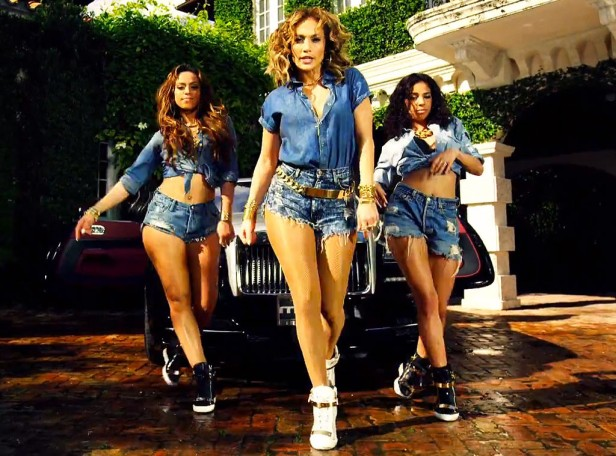 Jennifer Lopez aka J.Lo and dancers in the I luh ya papi video