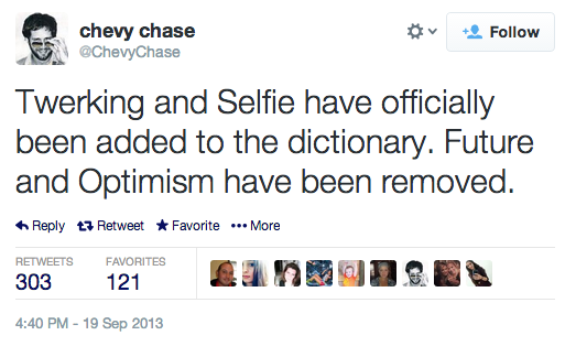 Tweet by Chevy Chase