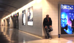 Stranded at the airport: All byhimself